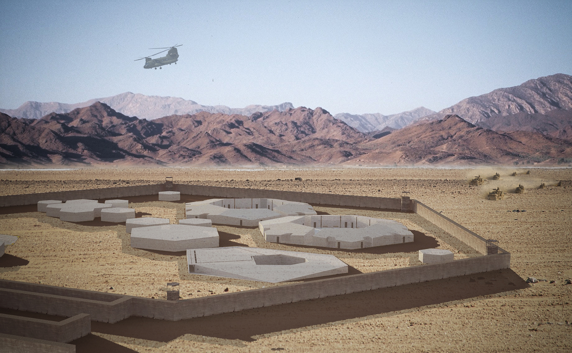 Zhenru Zhang - Design proposal for Delaram, Afghanistan