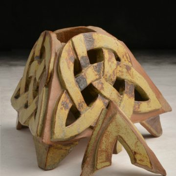 """Claire Smith's container """"Irish Heritage"""" winner of the Marck Nystrom Ceramics Award"""