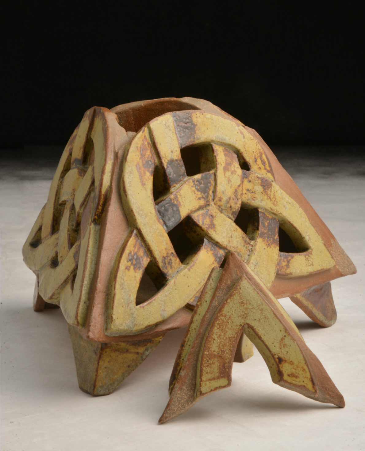"Claire Smith's container ""Irish Heritage"" winner of the Marck Nystrom Ceramics Award"