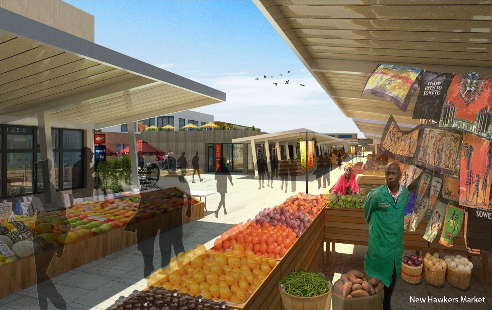 The team proposed a new hawkers' market where independent sellers could set up stalls as well as an adjacent commercial shopping center.