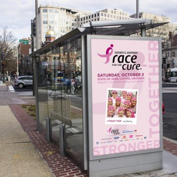 2015 Susan G. Komen Race for the Cure promotional bus stop ad