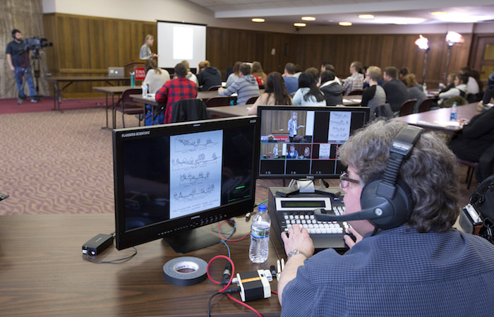 Last spring, a C-SPAN TV crew recorded an ISU class on modern American landscape architecture that will air in September and October. Photo by Christopher Gannon.