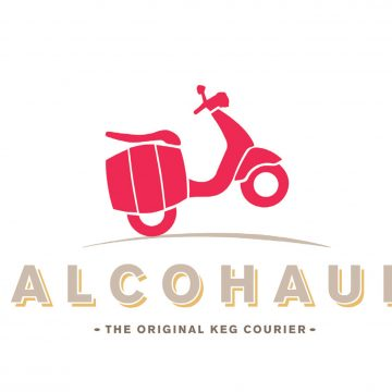 Alcohaul: The Original Keg Courier Logo
