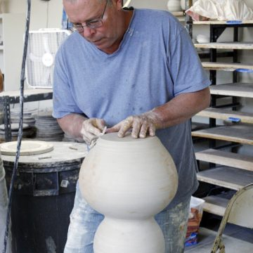 Ceramic artist Terry Rothrock to share his large-s