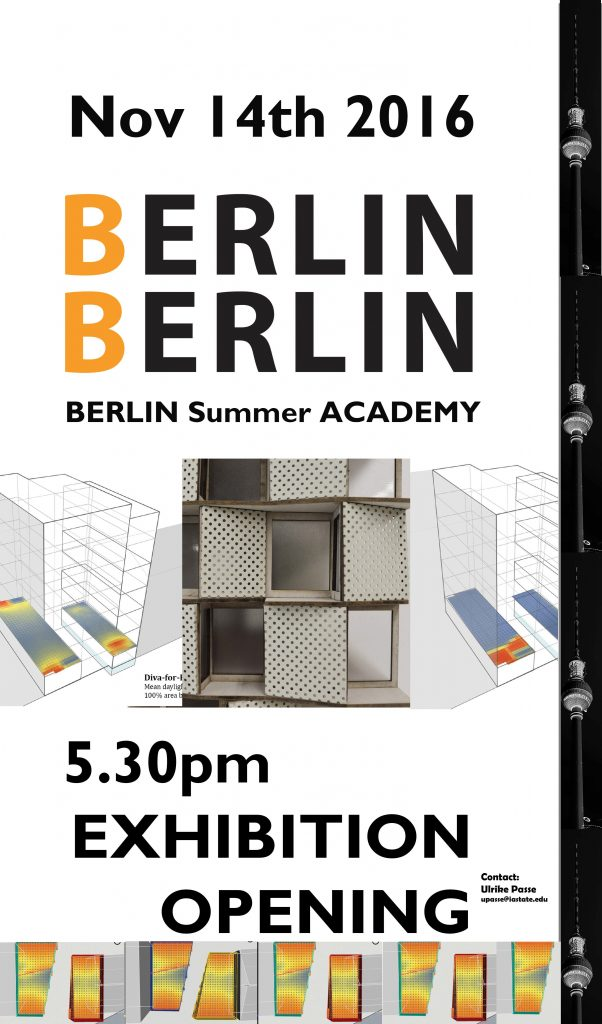 opening reception berlin summer academy 2016 exhibition iowa state university college of design. Black Bedroom Furniture Sets. Home Design Ideas