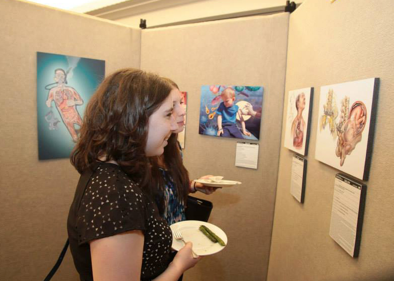 At the Association of Medical Illustrators Annual meeting Salon opening