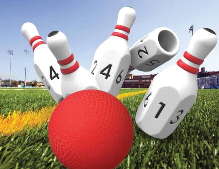 Courage League Power Pins bowling pins by Ian Baker and Daniel Gulick