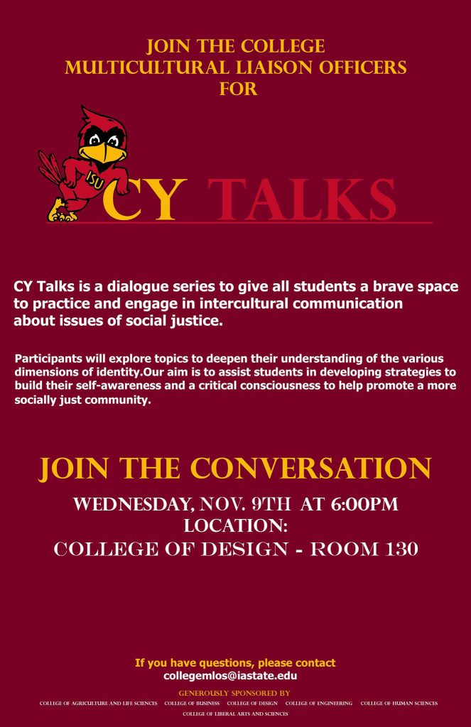 CY Talks: Conversation on Intercultural Communication : Iowa