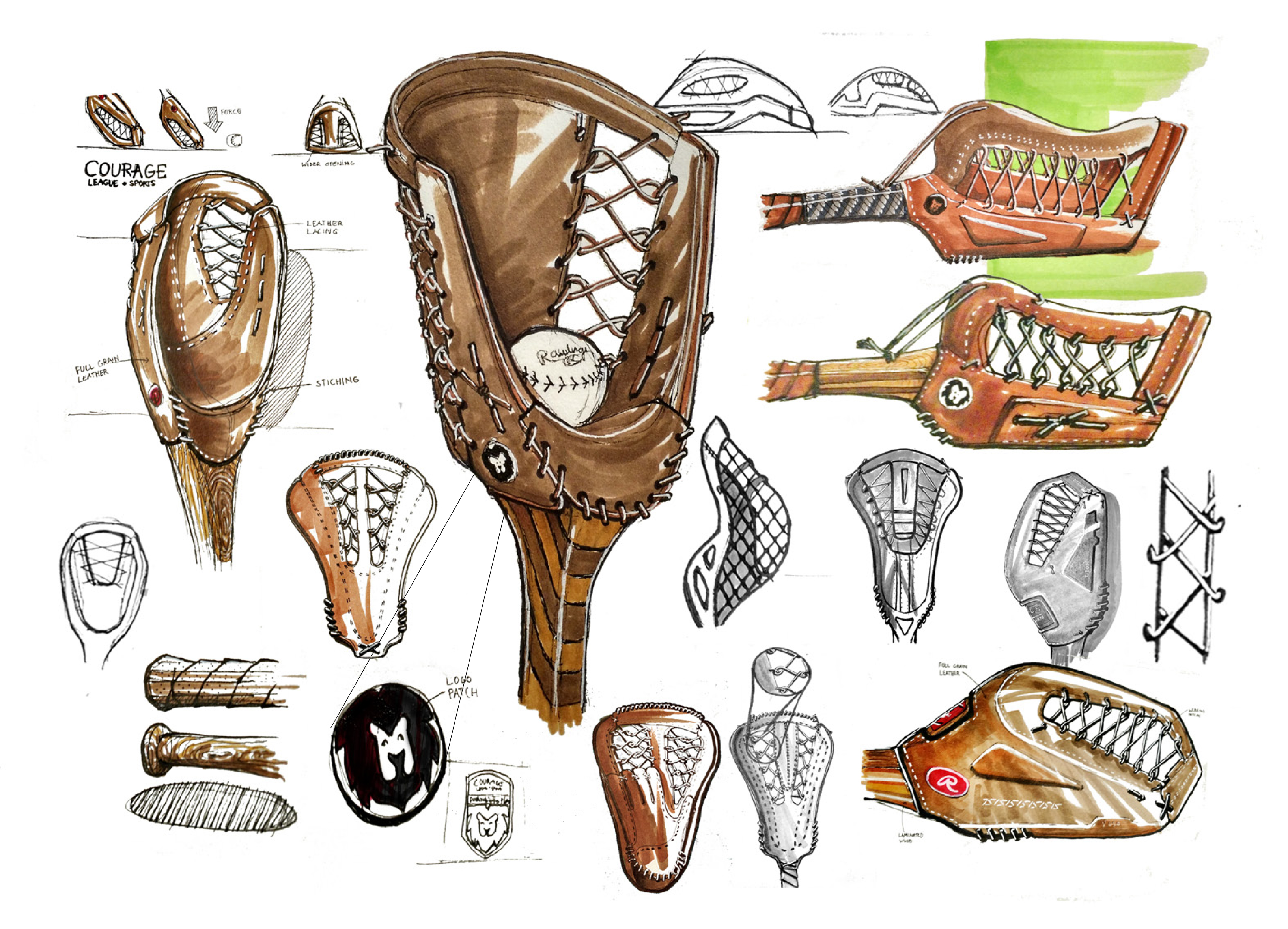 Courage League Mitt sketches by Joe Craig-Ferraz