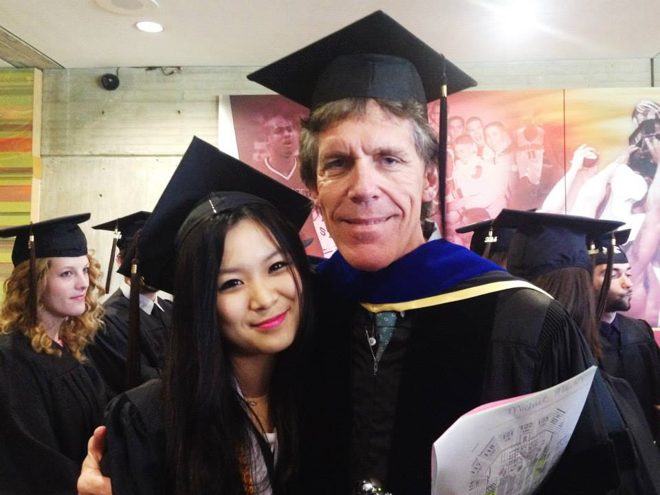Michael Martin with Qiyi Li at commencement