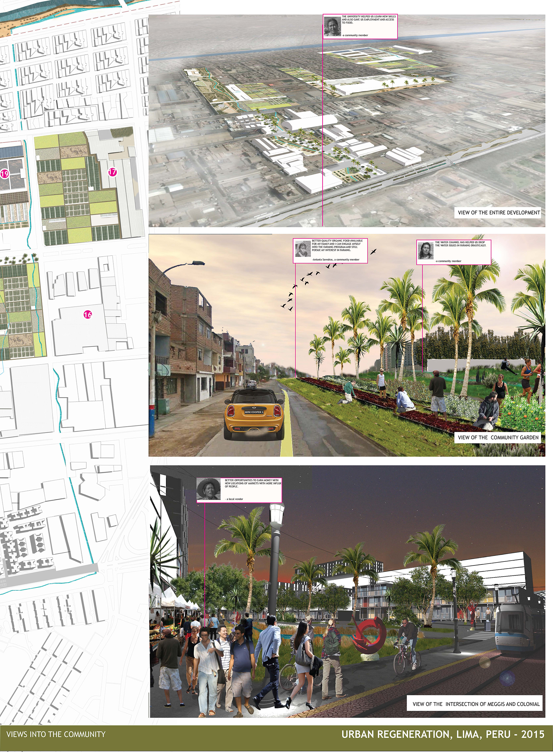 Regenerating Productive Urbanscape - Lima, Peru - Views into the community by Sonal Mamgain