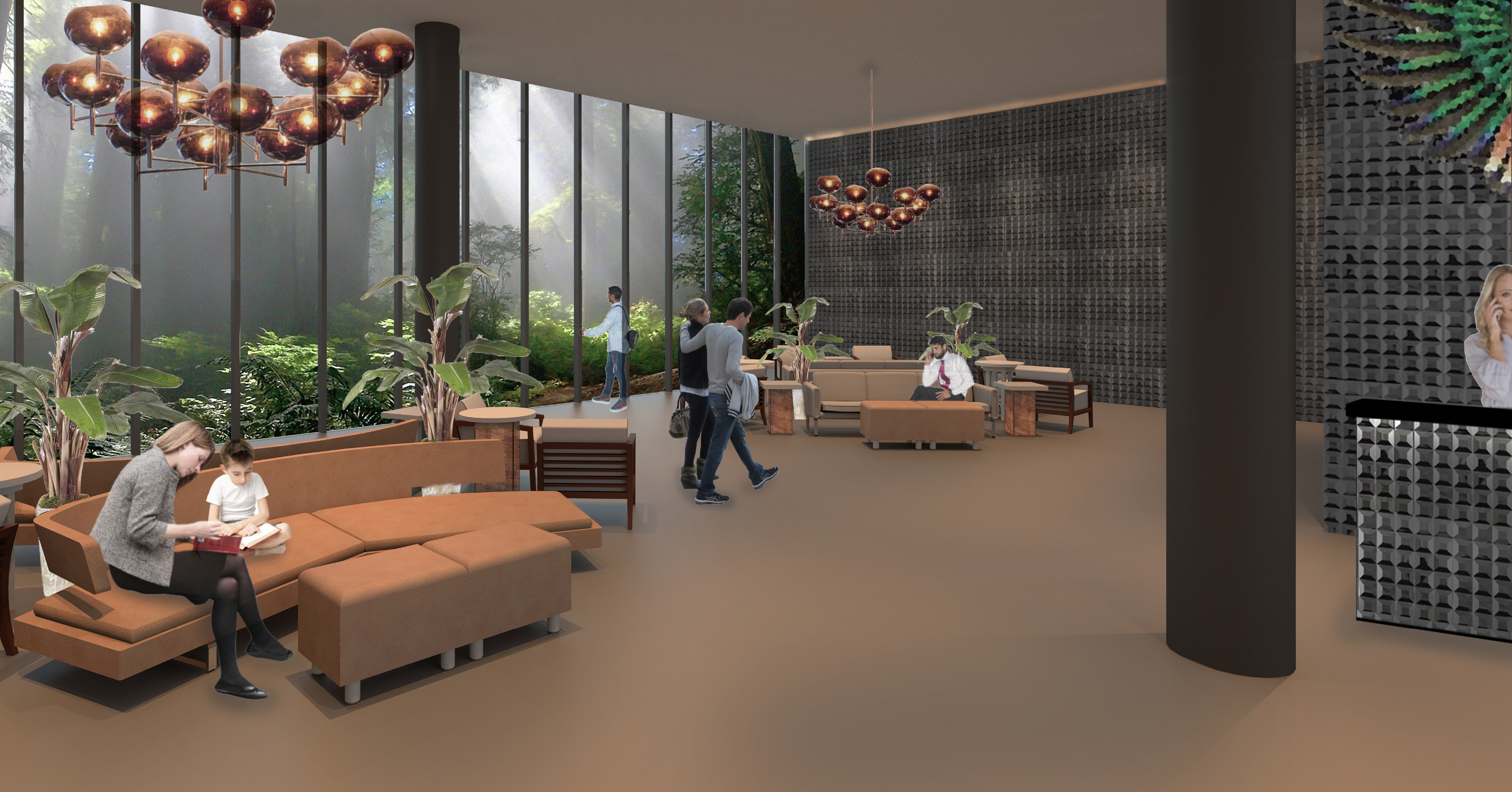 Interior design and architecture -  Lobby By Connor Yocum Catherine Mcclurg