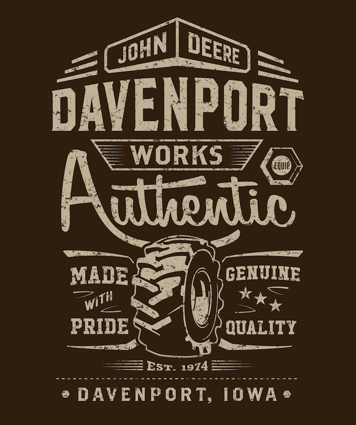 John Deere Davenport Works T-Shirt Design by Grey Dog Media