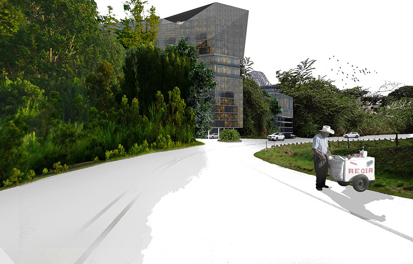Panama Hotel project exterior - by Connor Yocum & Catherine McClurg