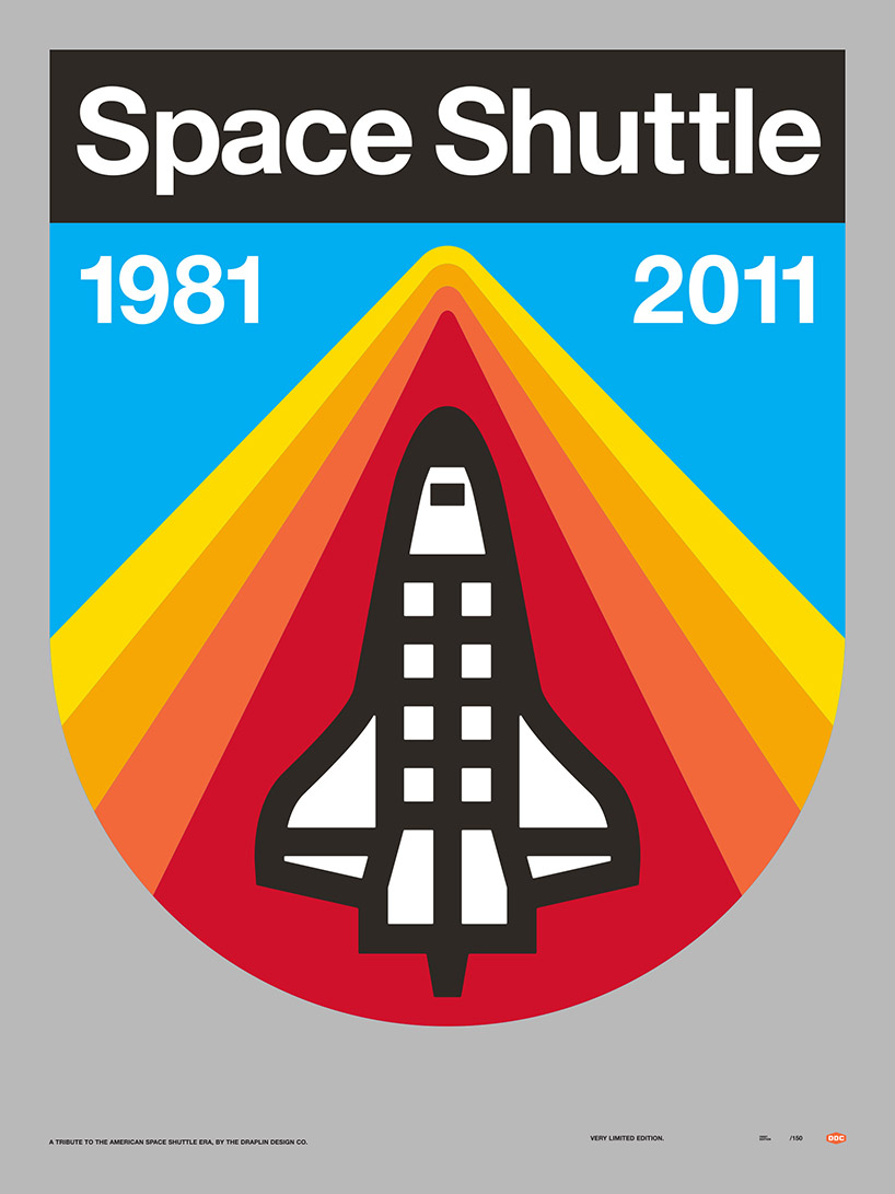 Space Shuttle Poster by Draplin Design Co.