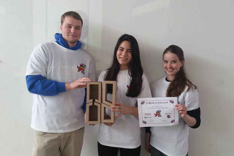 First Place - Ampi Block - Masonry Institute of Iowa Unit Design Competition