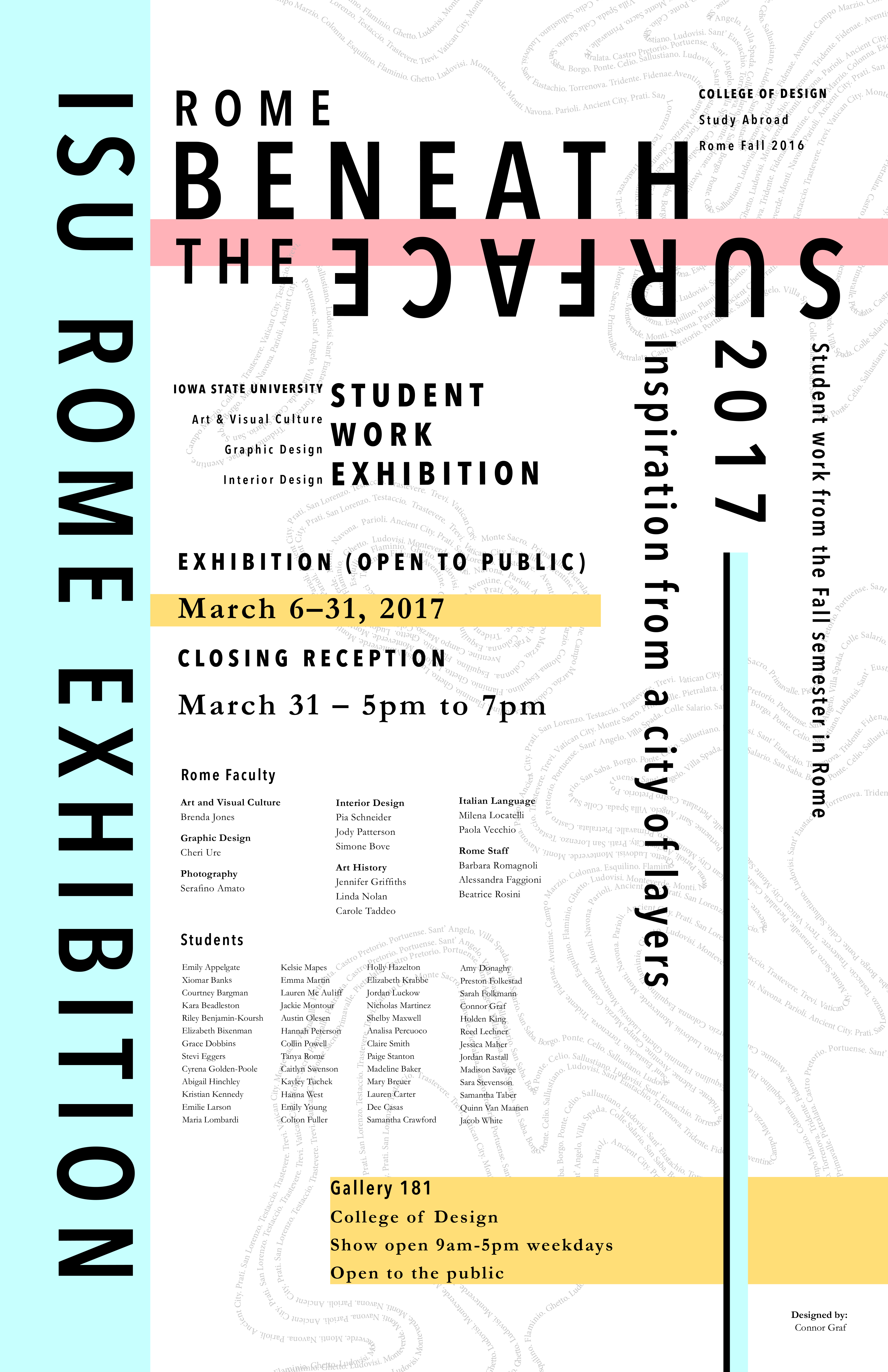 Rome Beneath the Surface Exhibition Poster