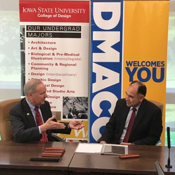 ISU College of Design, DMACC to sign new interdisc
