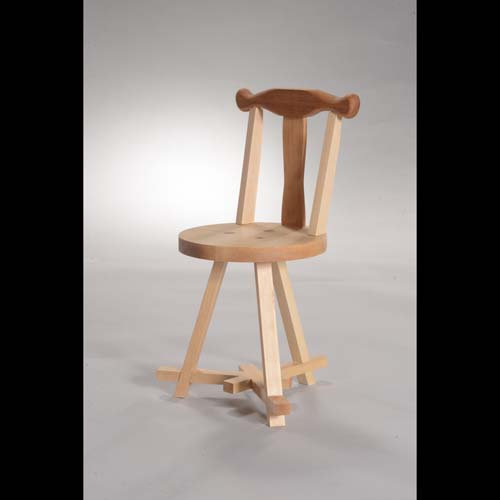 """Baby is Love"" (children's chair, 12"" x 12"" x 20"", varnished maple, cherry, mahogany, walnut) by Xin Chen"