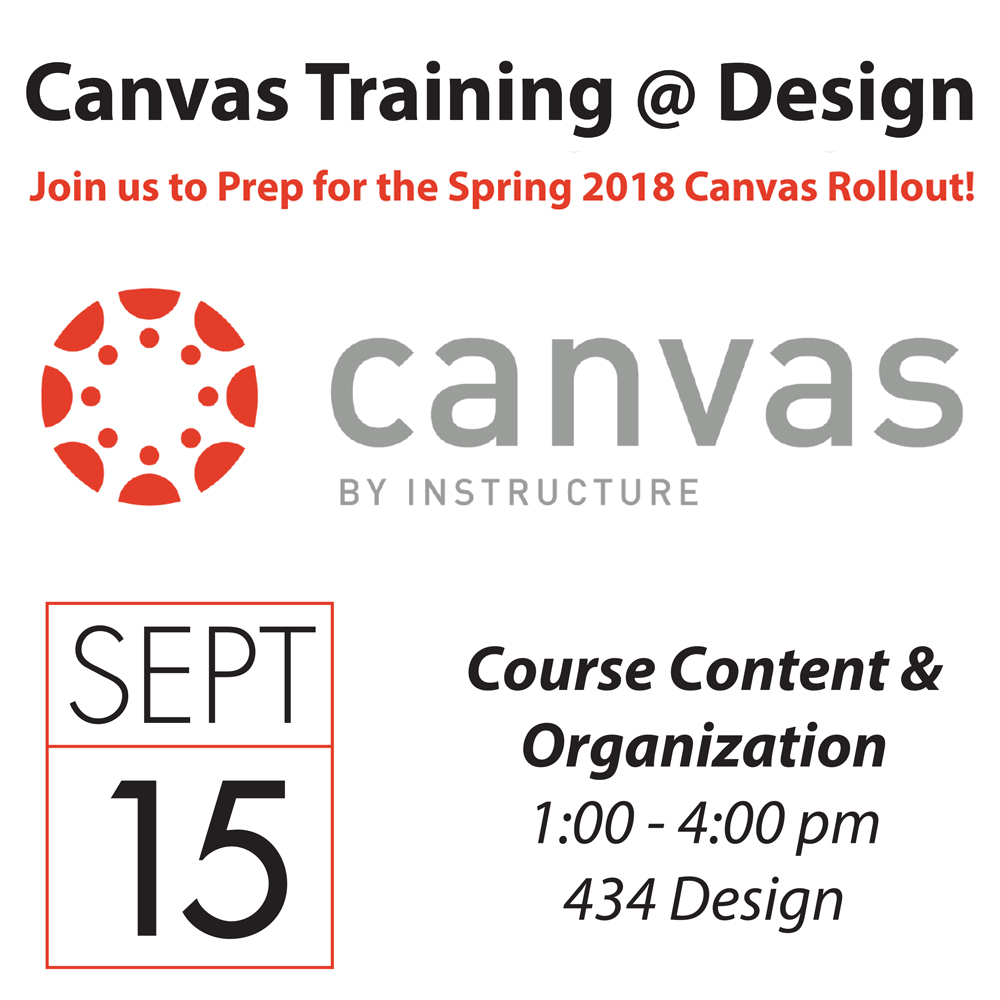 Canvas Training September 15