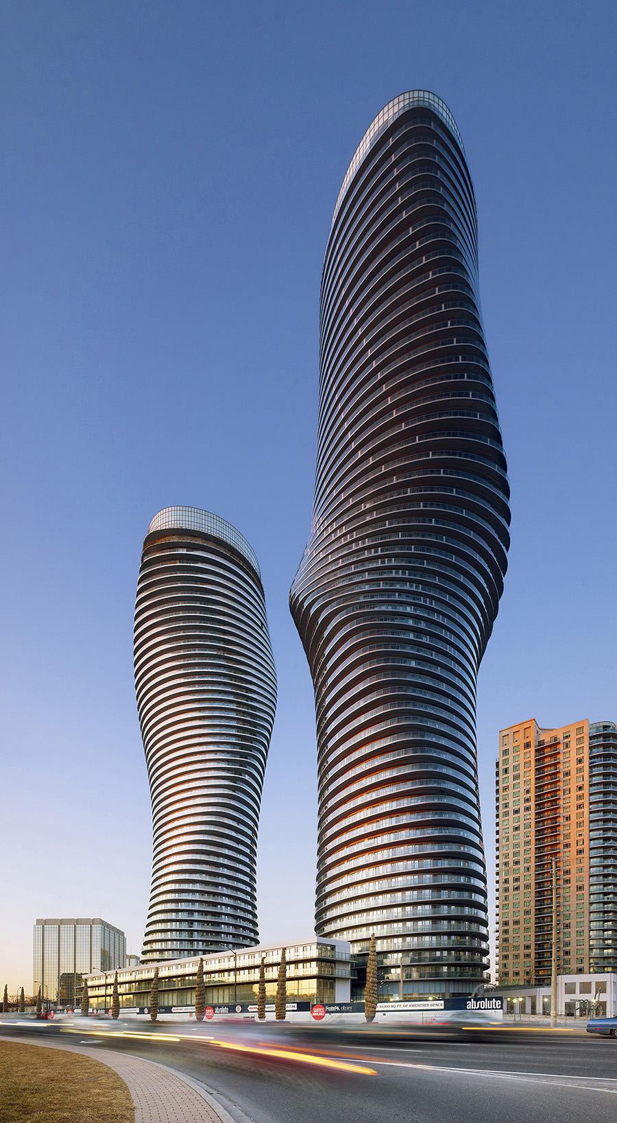 Absolute Towers designed by MAD Architects