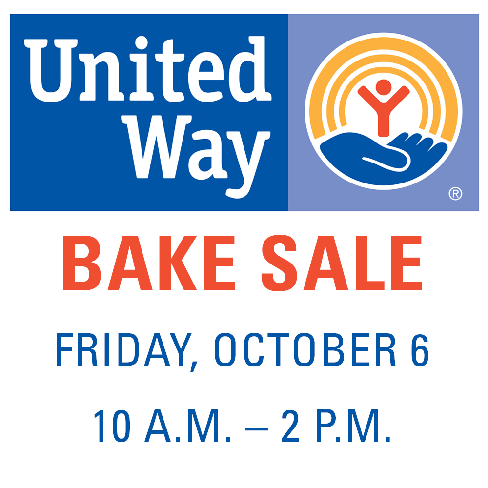 United Way BAKE SALE Oct. 6