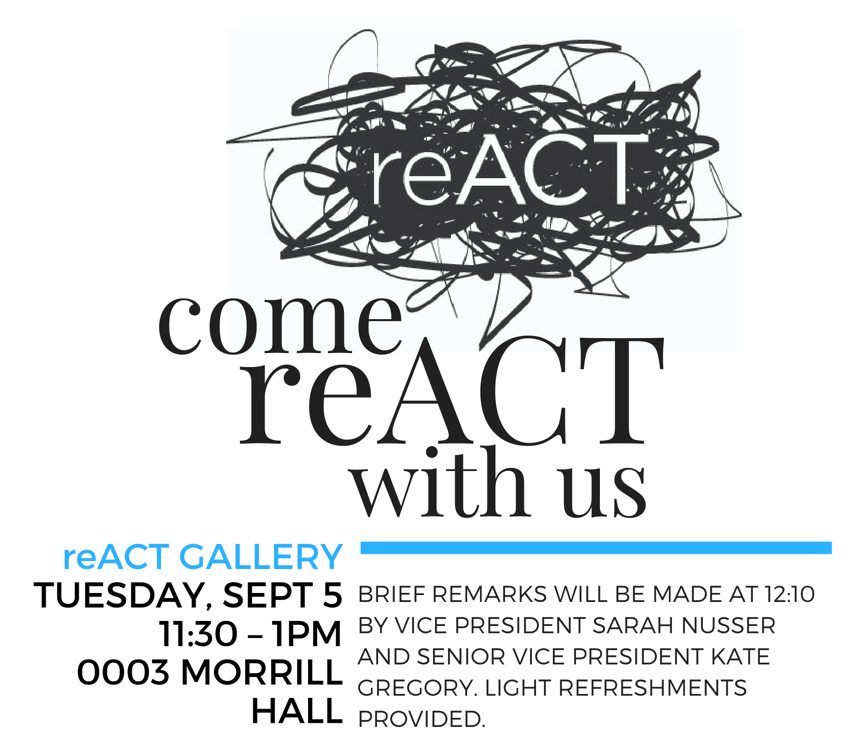 reACT Gallery Opening Invitation