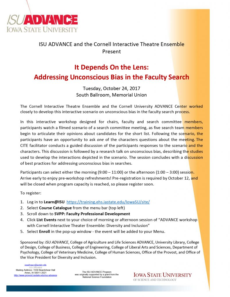 It Depends on the Lens: Addressing Unconscious Bias in the ...
