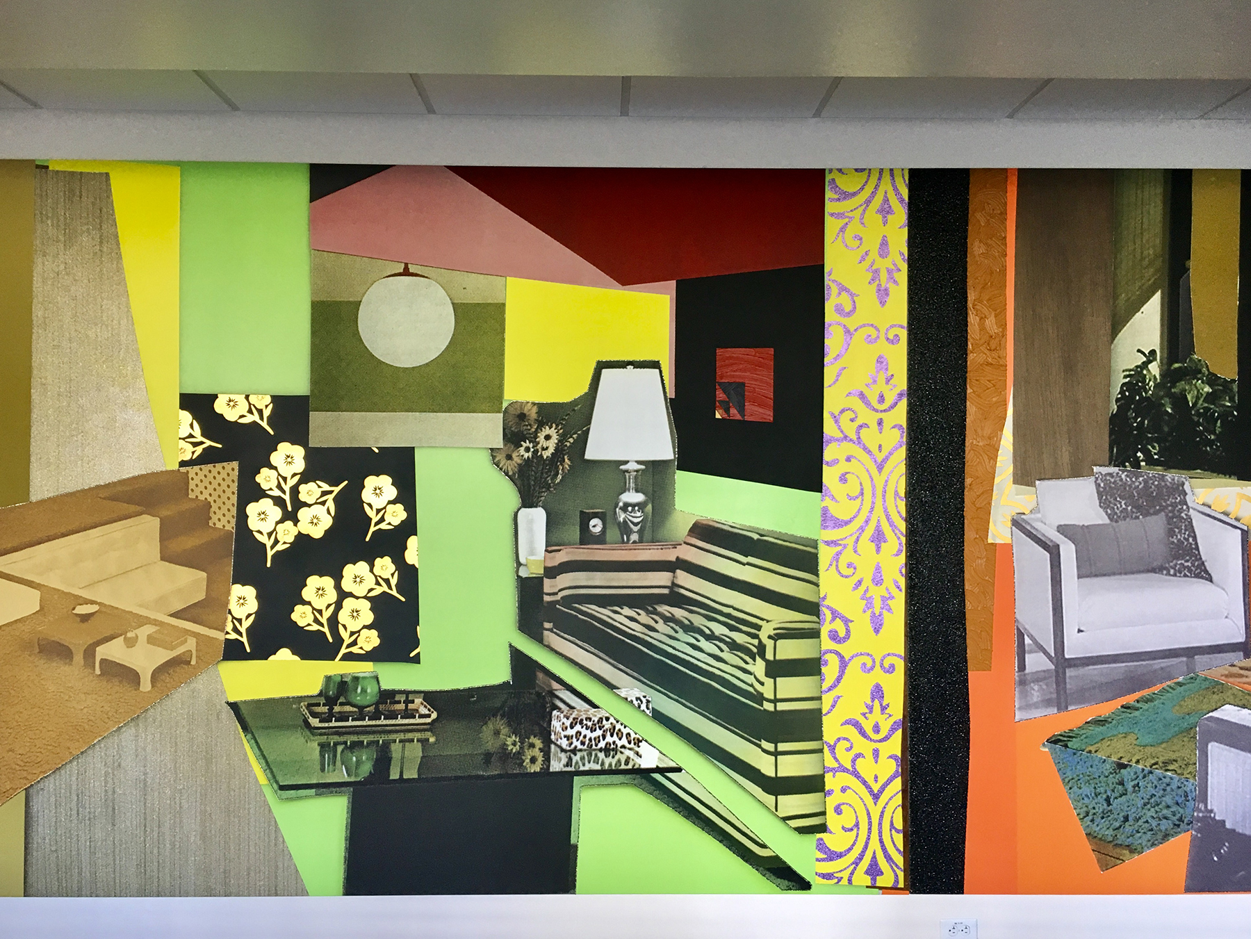 Geoffrey Residence Hall Mural - View 2