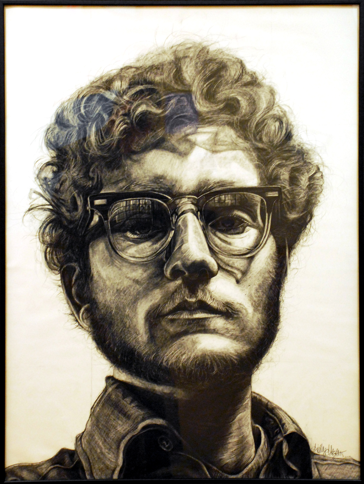 """Frank (After Chuck Close)""  by Holly Hazelton"
