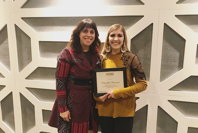 Elizabeth Bixenman, a senior in interior design at Iowa State University, received a North Central NEWH chapter scholarship that will cover tuition and expenses for her final semester of college.