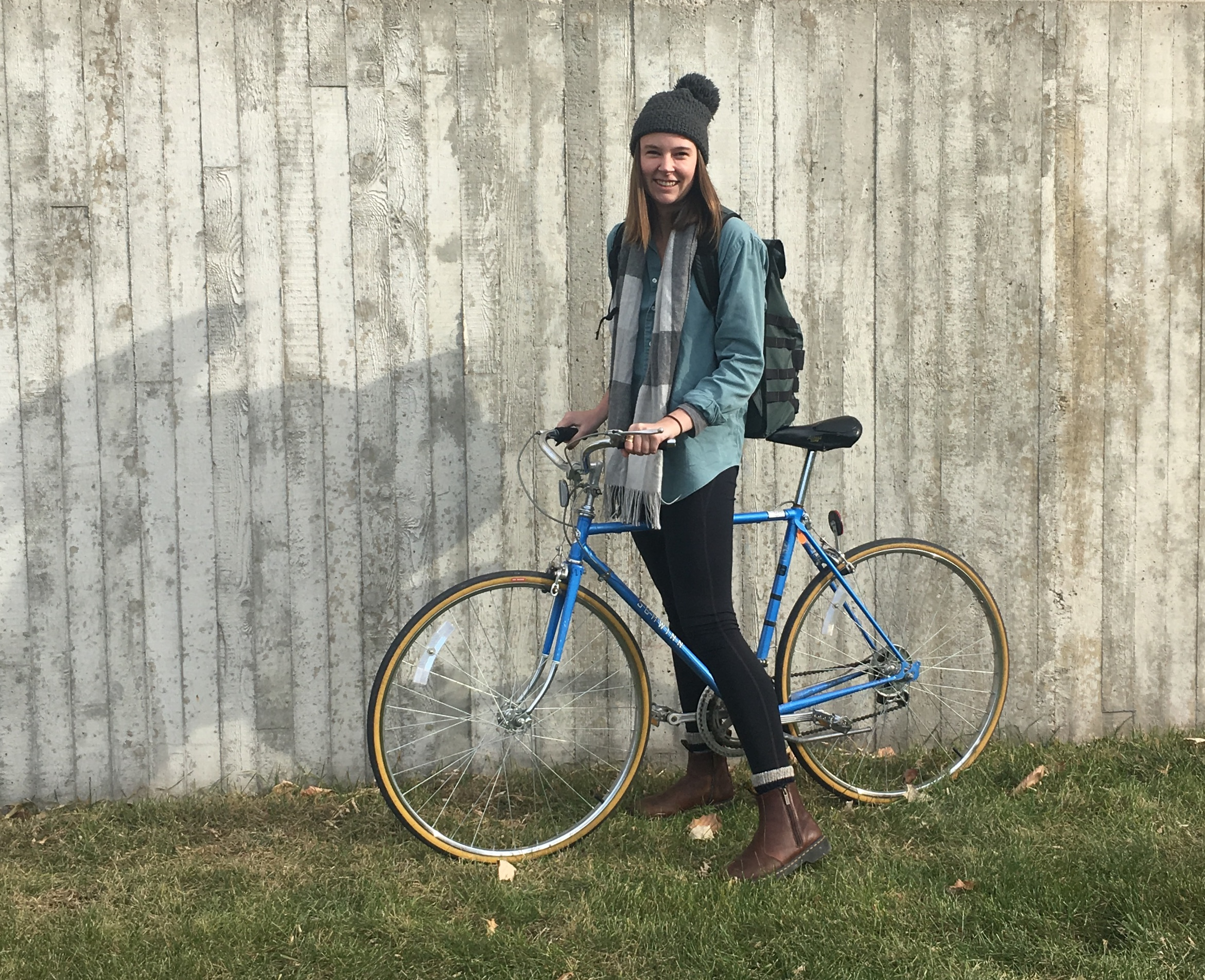 Zoey Mauck with her Liv Avail road bike