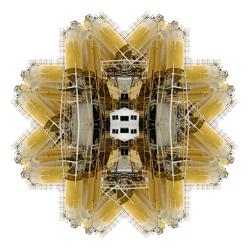 "IowaCombine_ChickasawCounty_1 (archival digital print, 24"" x 24"", 2015)by Russ Nordman"