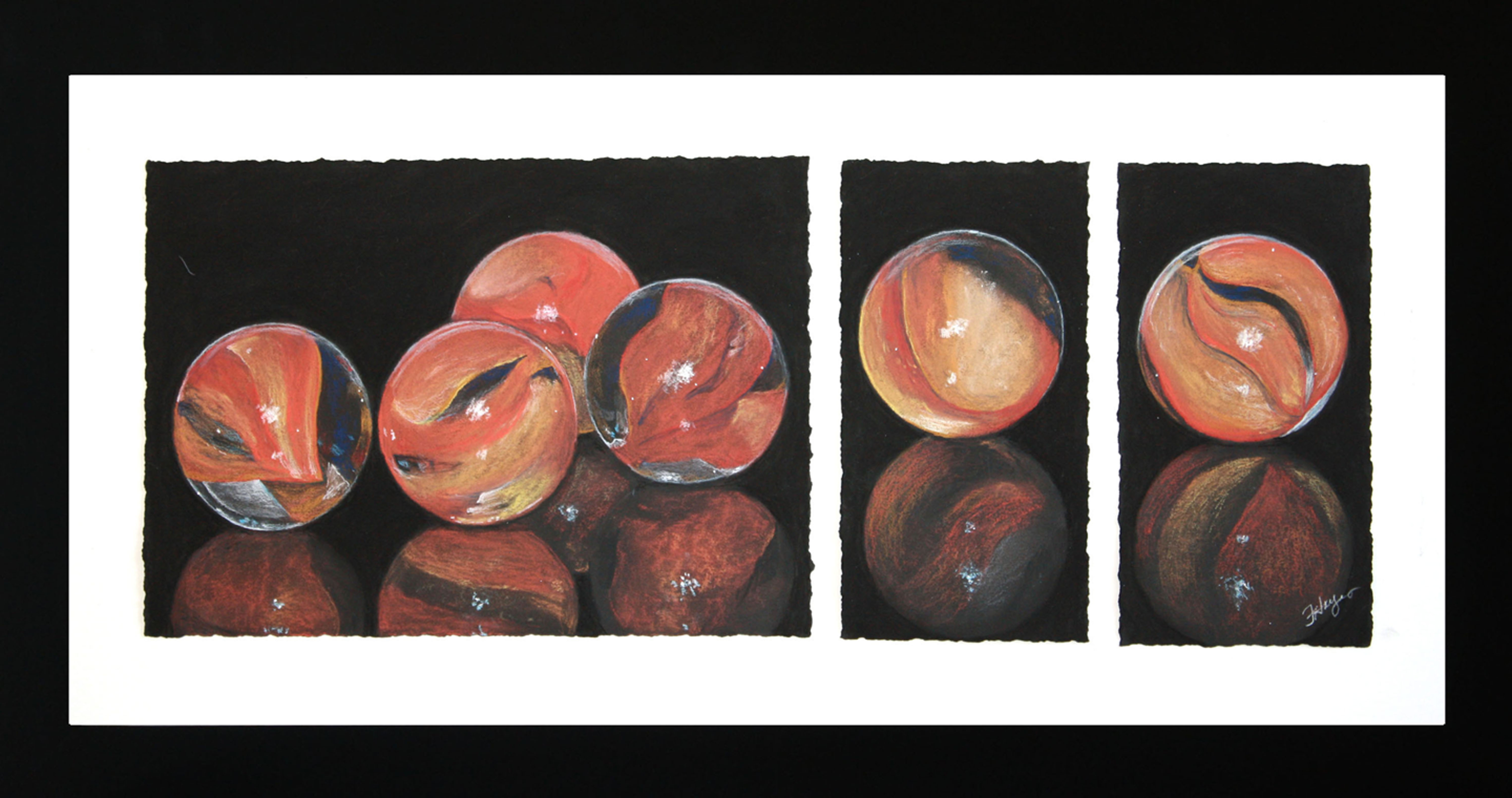 Orange Marbles by Flo Hayes