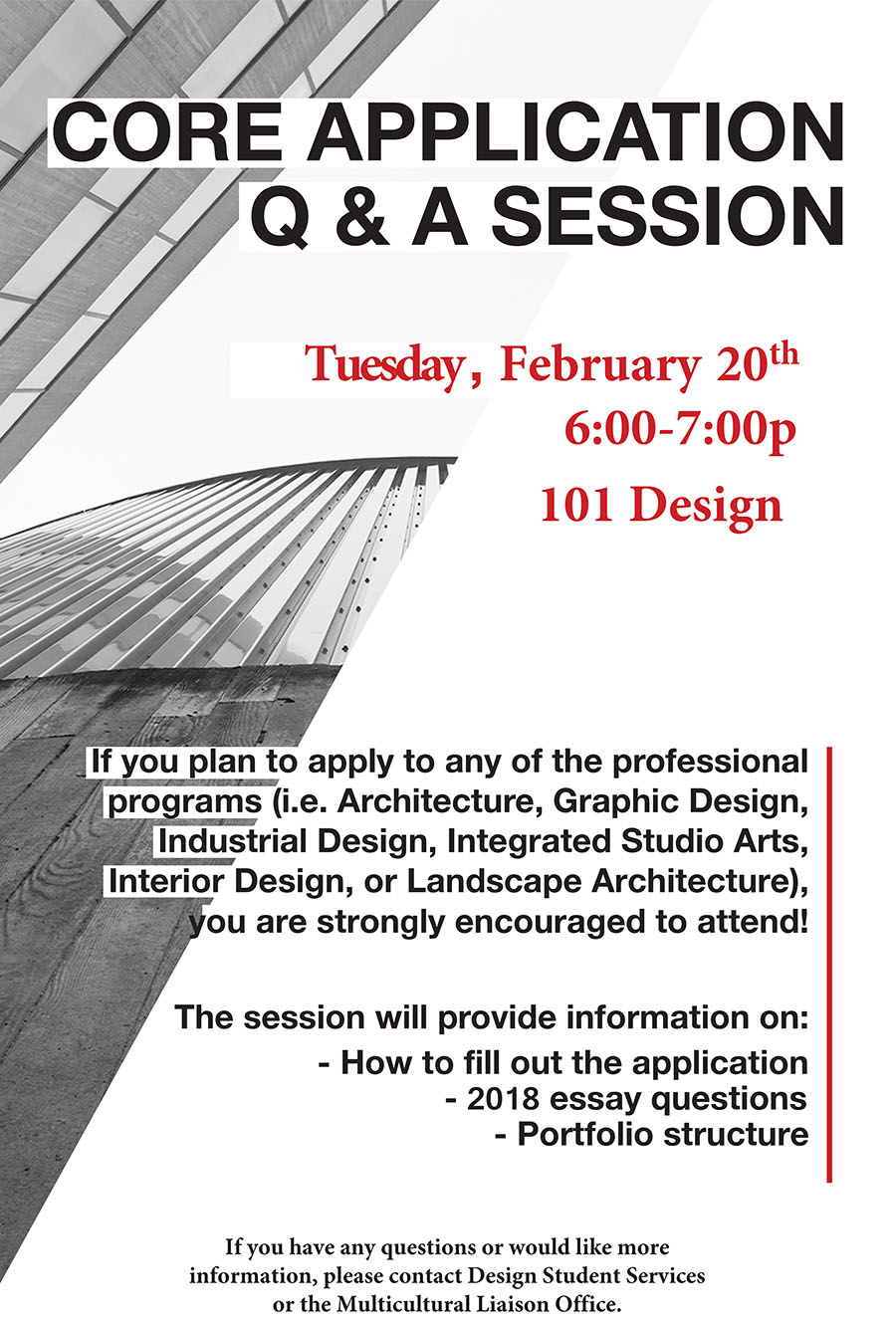 Core Application Information Session Spring 2018