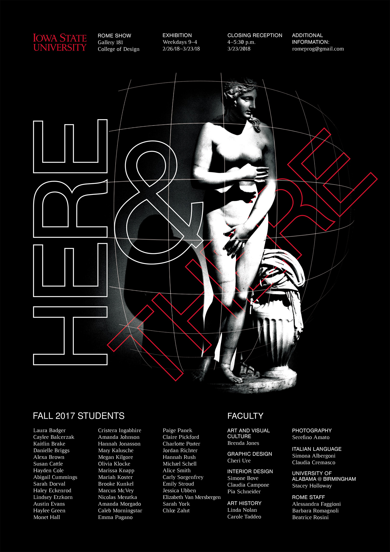 Here and There Rome Show Poster