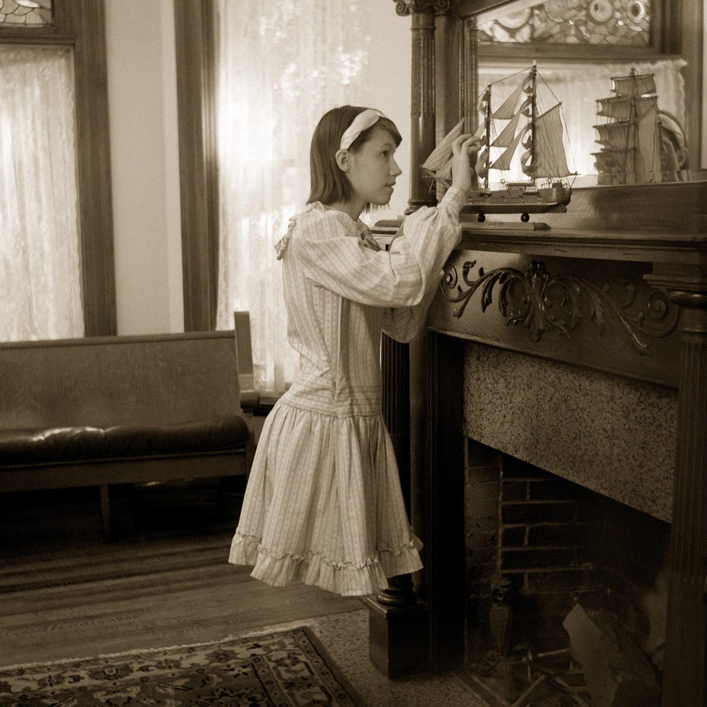"""Frances at the Fireplace"" (from ""A Case of Levitation: The Story of Frances Naylor"") by Christopher Schneberger"