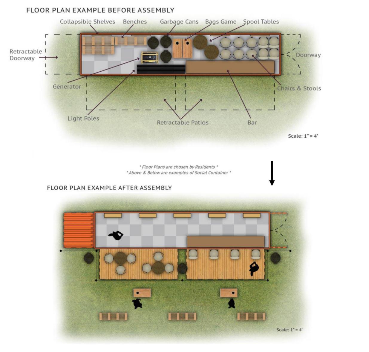 Detroit Urban Progress Floor Plan by Jacob Spitz
