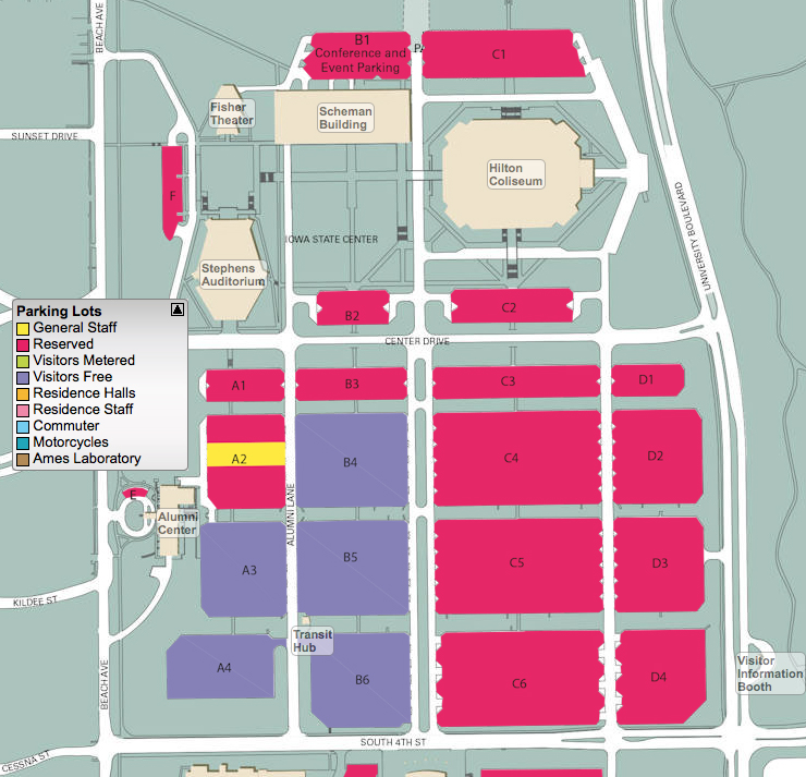 Map for Graduation Parking