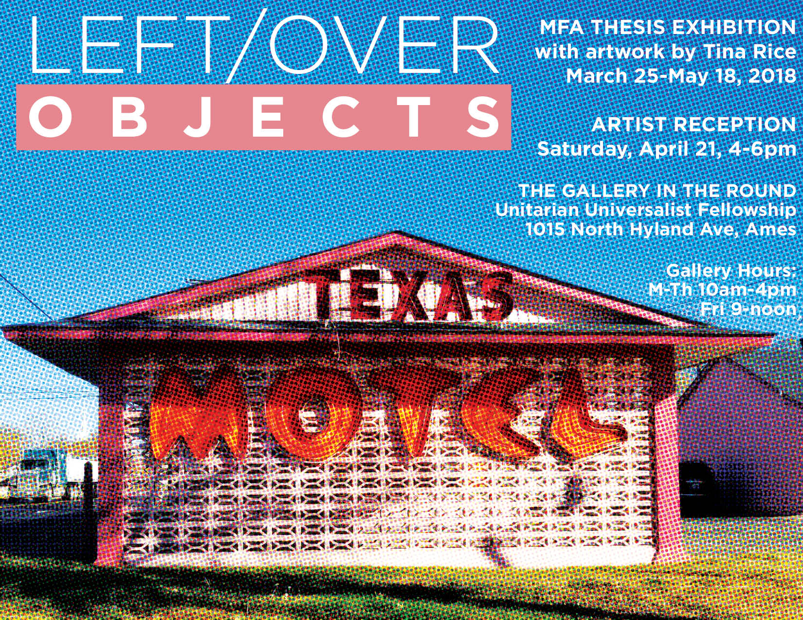 Tina Rice MFA Thesis Exhibition Poster