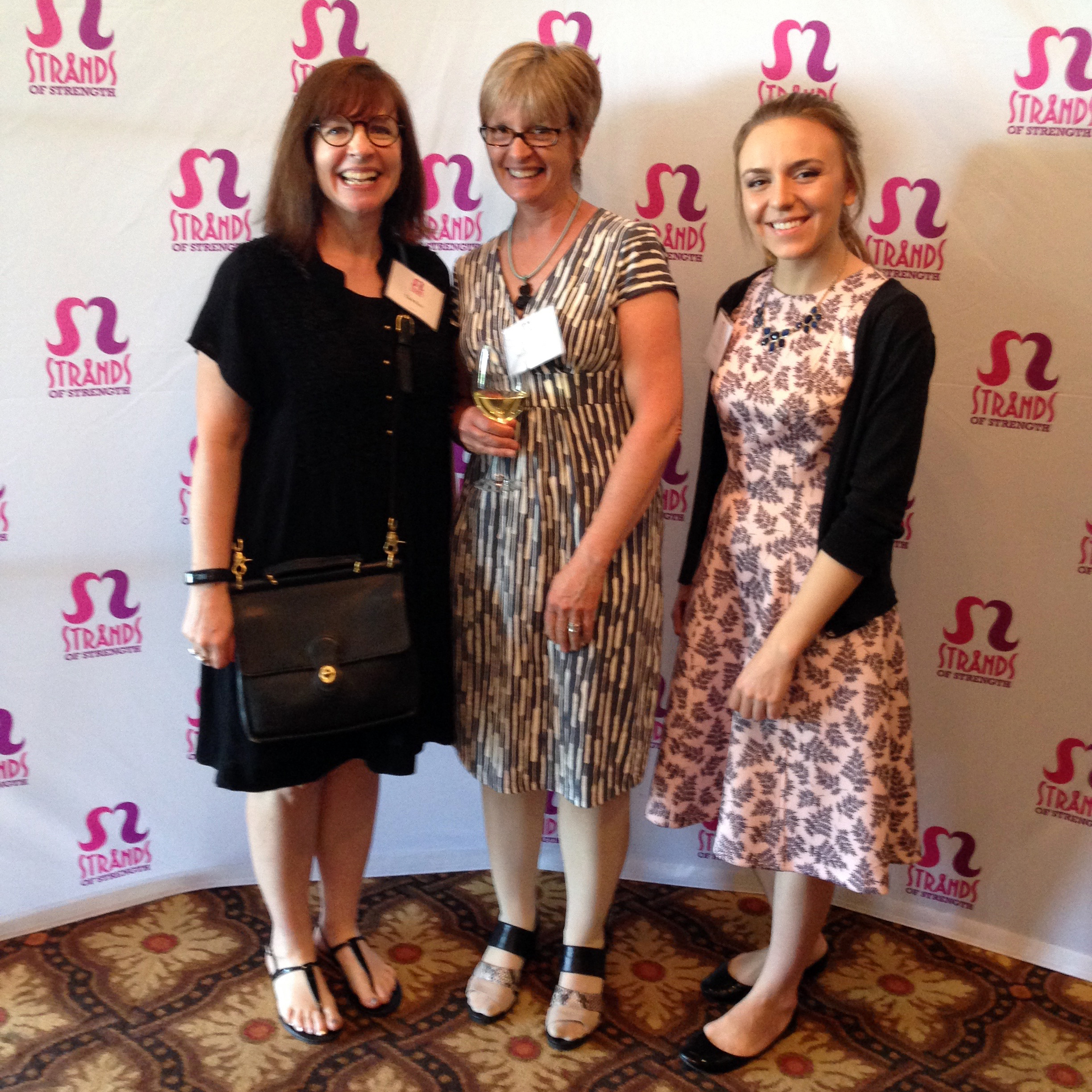 Tina Rice, Teresa Paschke, & Jen Wichers at the Strands of Strength Spring Luncheon