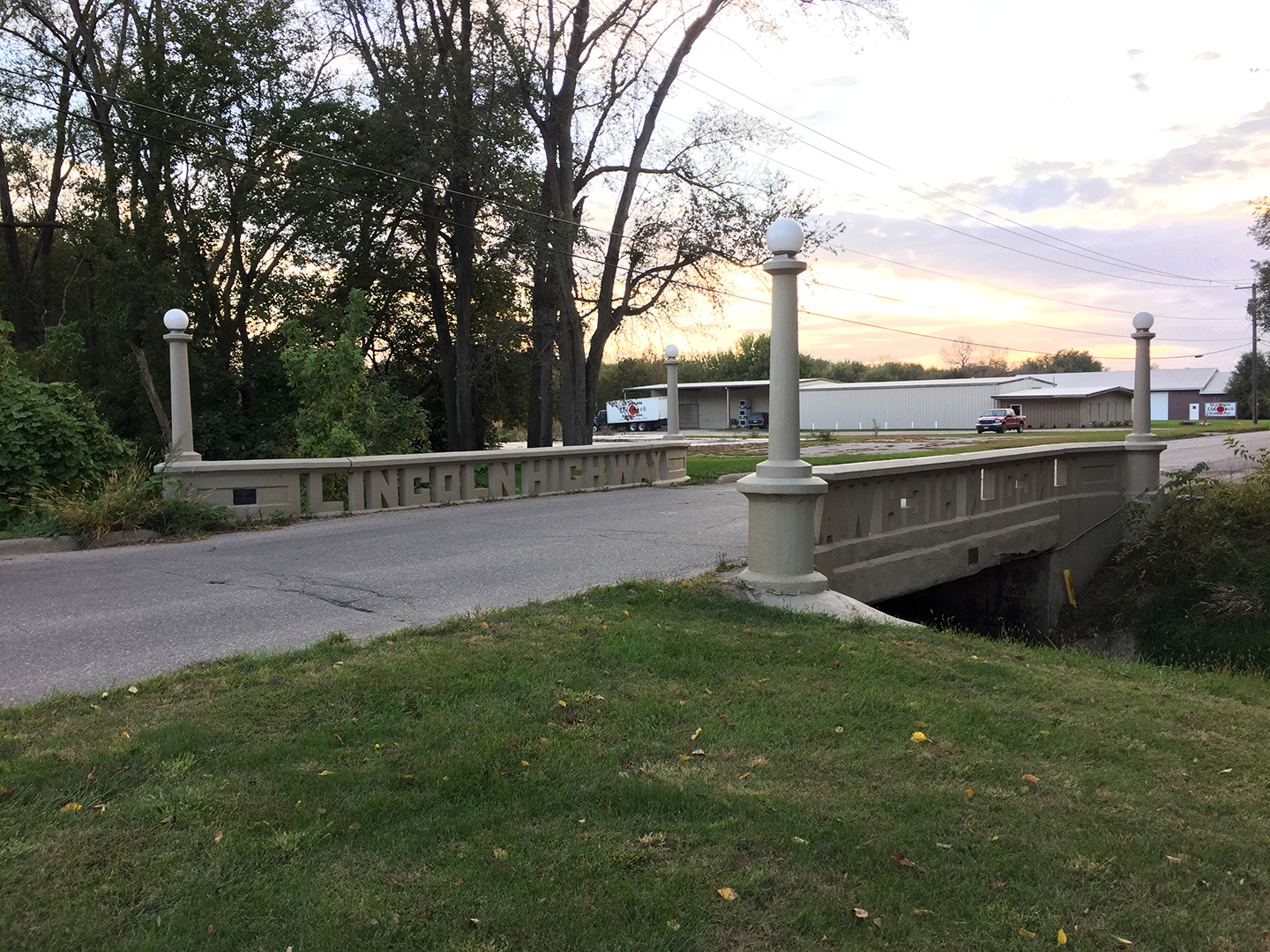 Historic Lincoln Highway bridge, Tama, Iowa
