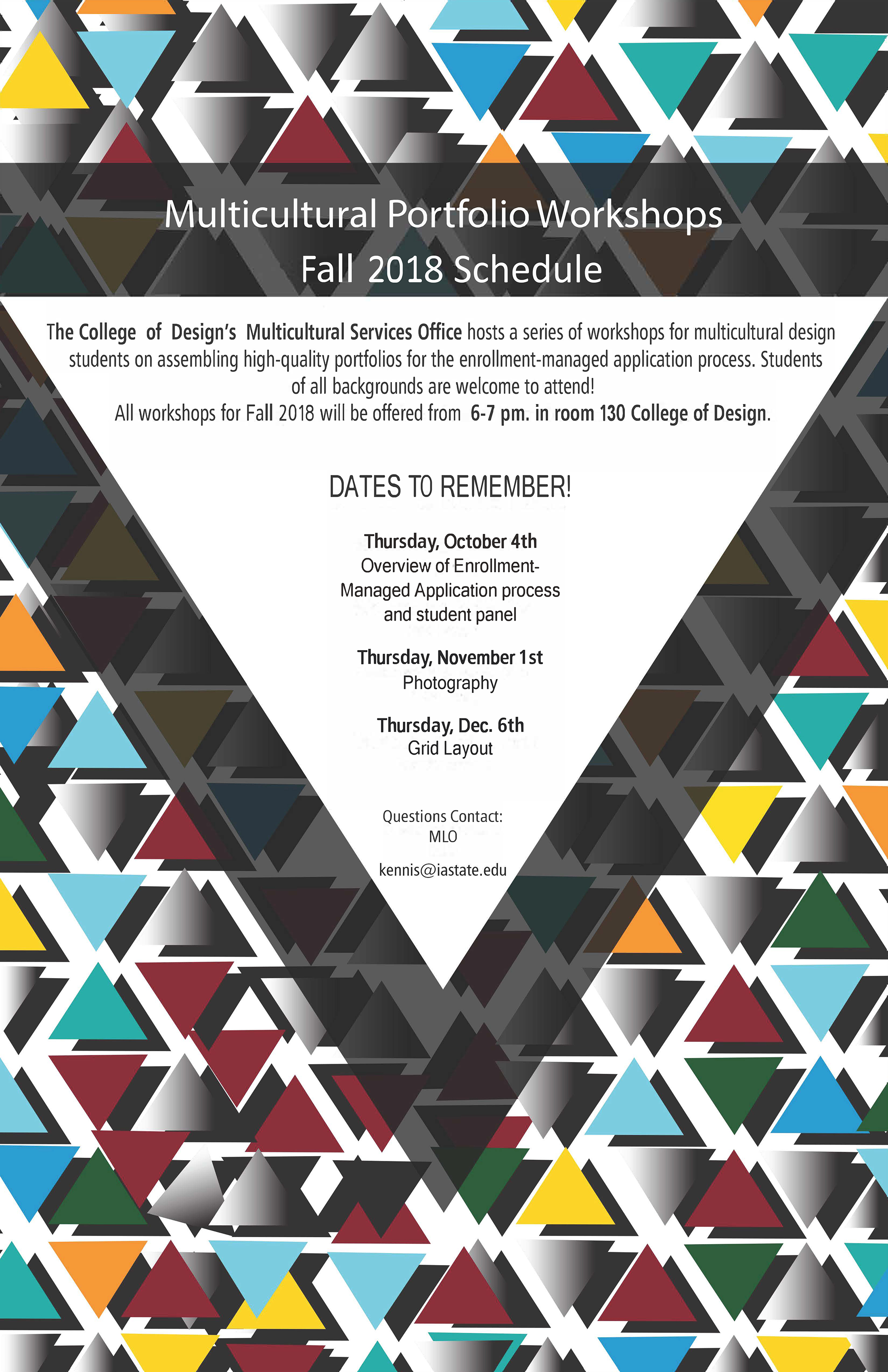 Multicultural Portfolio Workshop Fall 2018