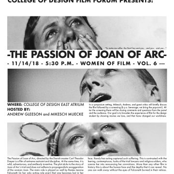 College of Design Film Forum: The Passion of Joan