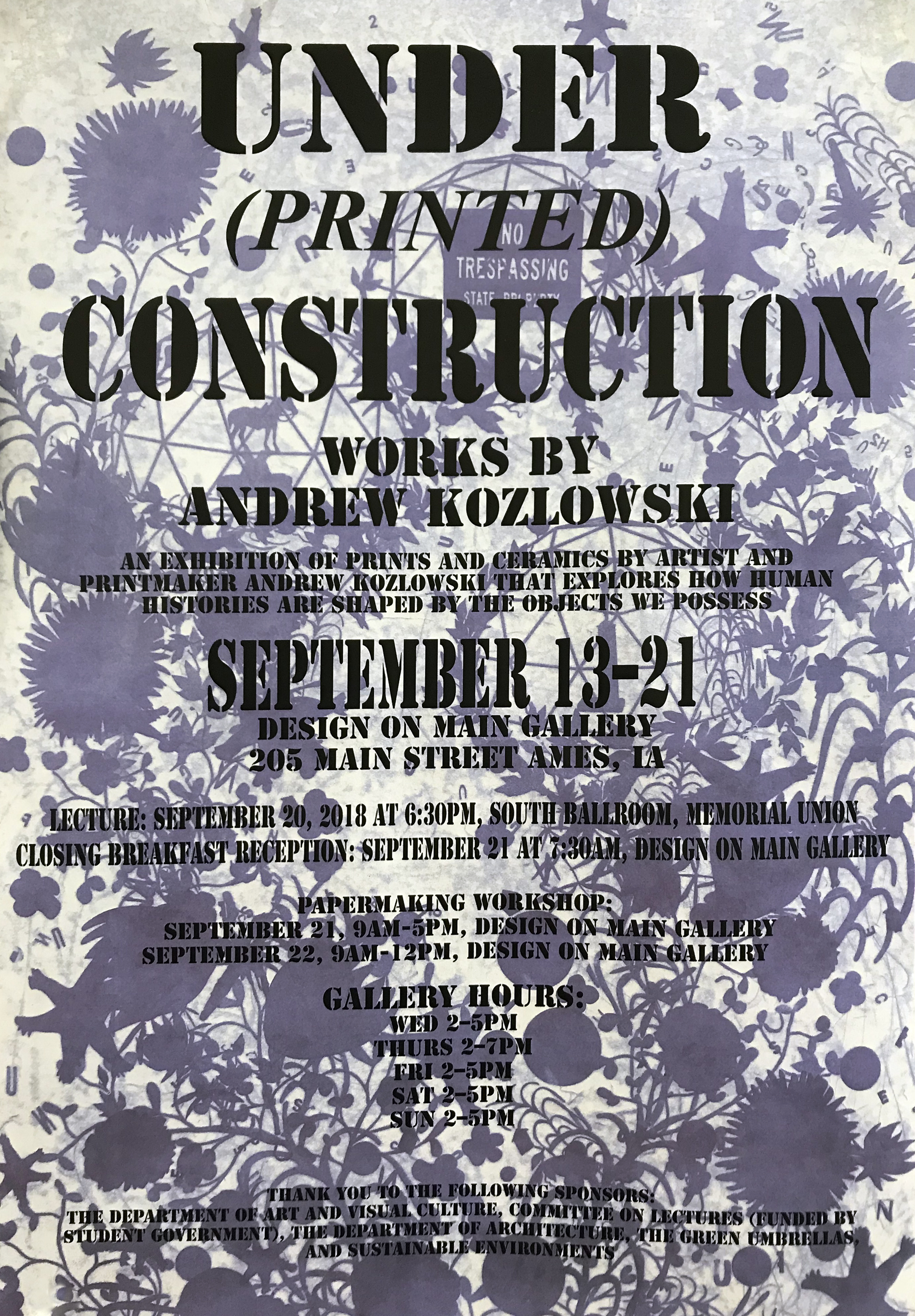 Under Printed Construction Poster