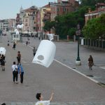 Kite Choir with ISU students along the Viale Giardini Publici. Photo by Mikesch Muecke.