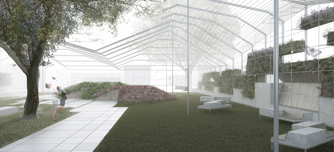 """""""Wynwood Greenhouse Park,"""" winning competition entry by Jim Drain, Nick Gelpi and Roberto Rovira"""