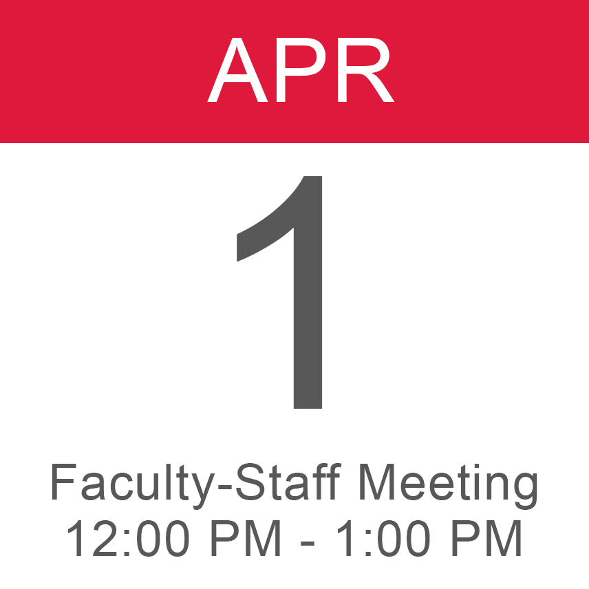 Faculty Staff Meeting April 1