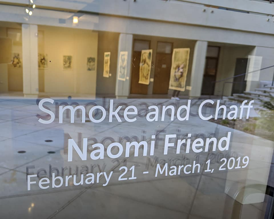 Smoke and Chaff Exhibition by Naomi Friend