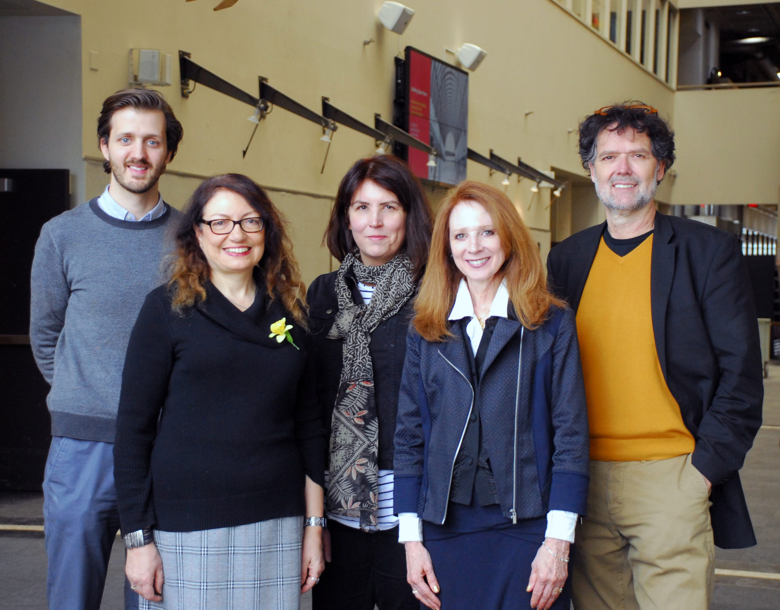 A multidisciplinary team of College of Design faculty has received the inaugural BNIM Regenerative Design Challenge Grant. Pictured from left are Daniel Kuhlmann, Julie Irish, Andrea Wheeler, Diane Al Shihabi and Mikesch Muecke.